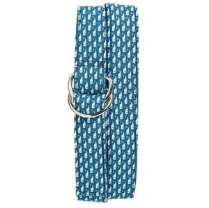 VINEYARD VINES Womens XL Blue Fabric Belt D Ring
